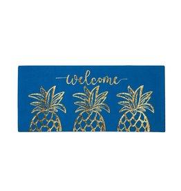 Gold Pineapple Welcome Sassafras Switch Mat