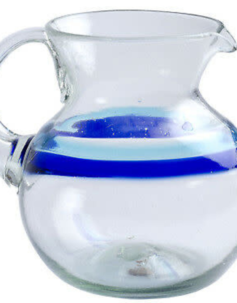 Banded Turquoise/Cobalt Cabo Bola Pitcher 80oz