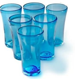 Lily Glass (Solid Turquoise) 14oz