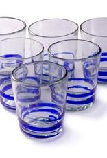 Cobalt Serpentine Glass (Short Tumbler) 12oz