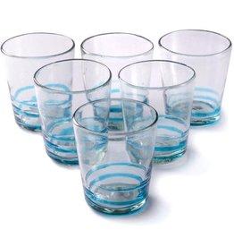 Turquoise Serpentine Glass (Short Tumbler)
