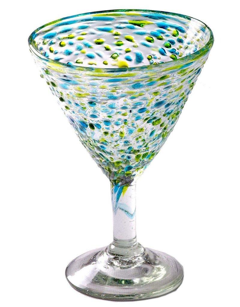Del Mar Martini - 12 oz (Turquoise/Green Pebble)