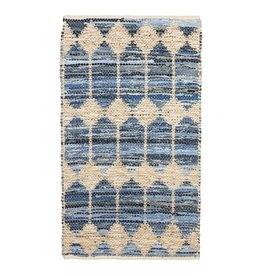 Hand Woven Jute and Cotton and Chindi Rug 3'x5'