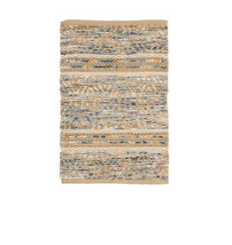 Indoor/Outdoor Hand Woven Jute and Cotton and Chindi Rug 3'x5'