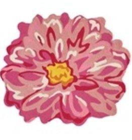 Pink Flower Shaped Hook Rug
