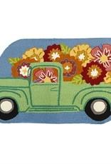 Flower Truck Shaped Hook Rug
