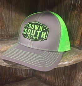 Down South Logo Hat gray/neon green