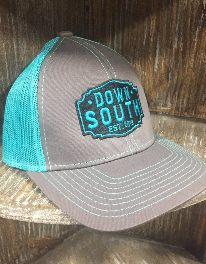 Down South Logo Hat gray/teal