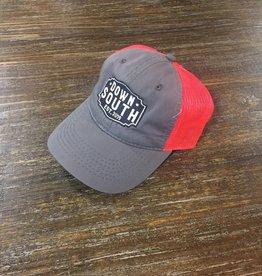 Down South Logo Hat gray/neon orange