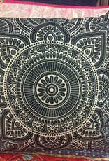 "18""x18"" Linen Geometric Pillow - Black"