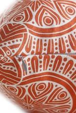 "18""x18"" Linen Geometric Pillow - Orange"