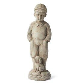 """K & K Interiors Boy with Puppy Garden Figure 22.5"""""""