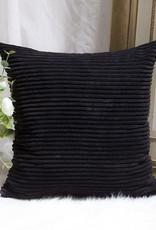 """Corduroy Pillow 26"""" x 26"""" - Black"""