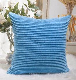 """Corduroy Pillow 26"""" x 26"""" - Turquoise"""