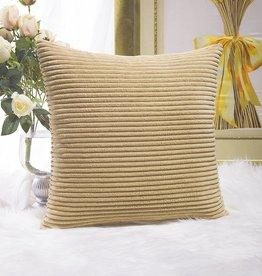 """Corduroy Pillow 26"""" x 26"""" - Taupe"""