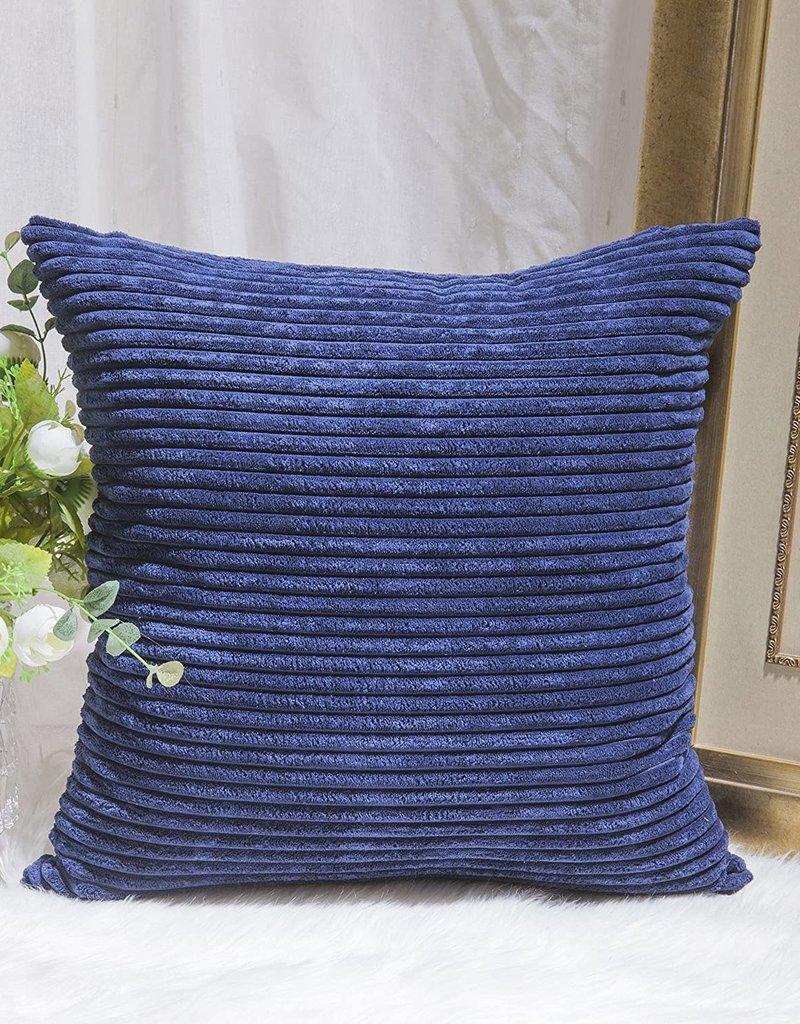 "Corduroy Pillow 26"" x 26"" - Navy"