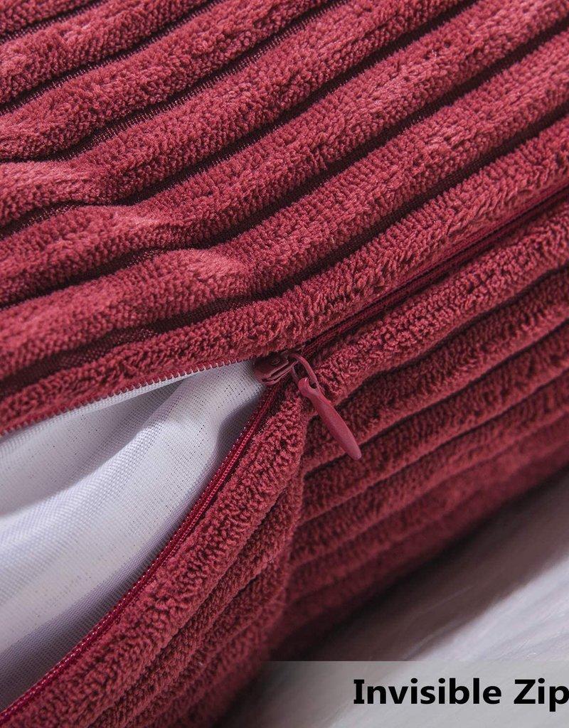 "Corduroy Pillow 26"" x 26"" - Dark Red"
