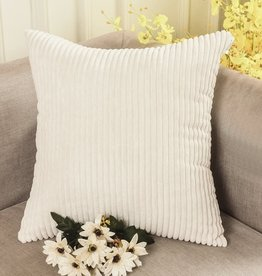"Corduroy Pillow 26"" x 26"" - Cream Cheese"