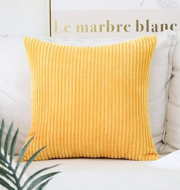"Corduroy Pillow 26"" x 26"" - Sunflower Yellow"