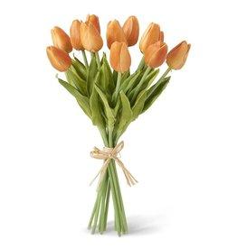 13.5 Inch Orange Real Touch Mini Tulip Bouquet (12 Stems per Bundle)