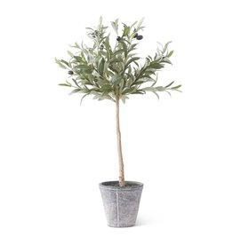 K & K Interiors 31 Inch Olive Tree w/Gray Wash Pot