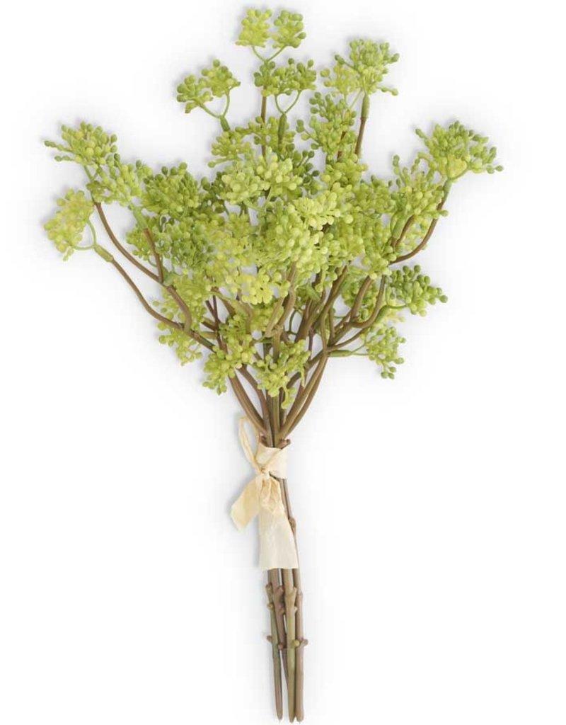 13.5 Inch Green Flower Bush