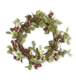21 Inch Red Pod Wreath