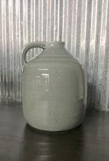 Ceramic Gray Jug With Handle
