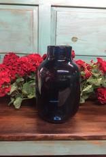 Persian Blue Glass Vase With Mini Dots Medium