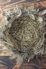 """12"""" Feather & Twig Nest"""