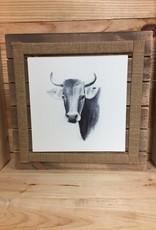 "12"" Wood Framed Farm Animal - Cow"