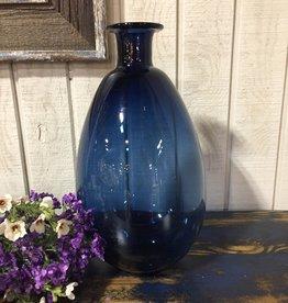 """13"""" Blue Glass Vase"""