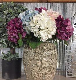 "Gray Ceramic Art Deco Style Vase 12"""