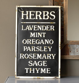 Metal Herb Sign