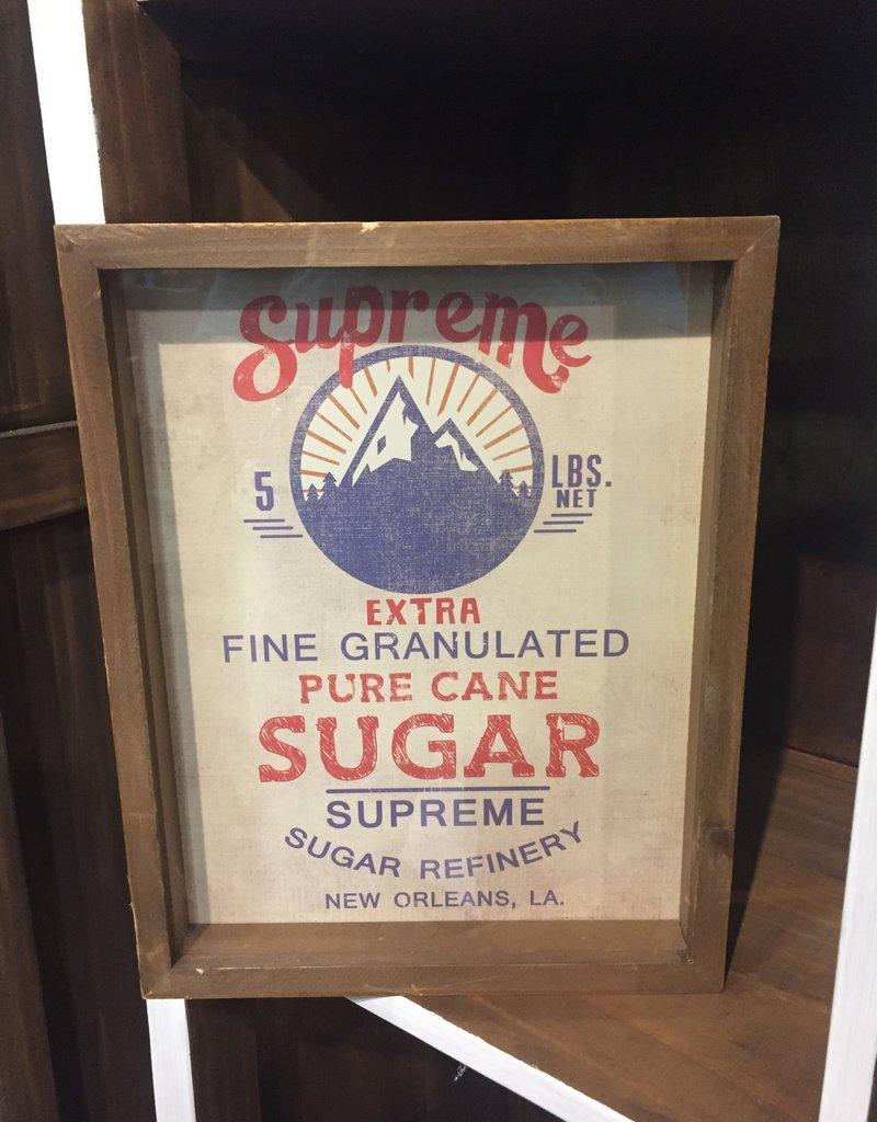 Baking Ingredients Framed Print - Pure Sugar Cane
