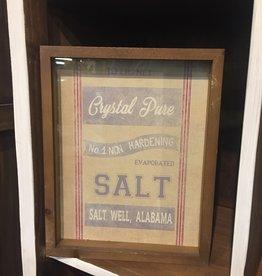 Baking Ingredients Framed Print - Salt