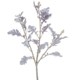 Flocked Dusty Miller Spray