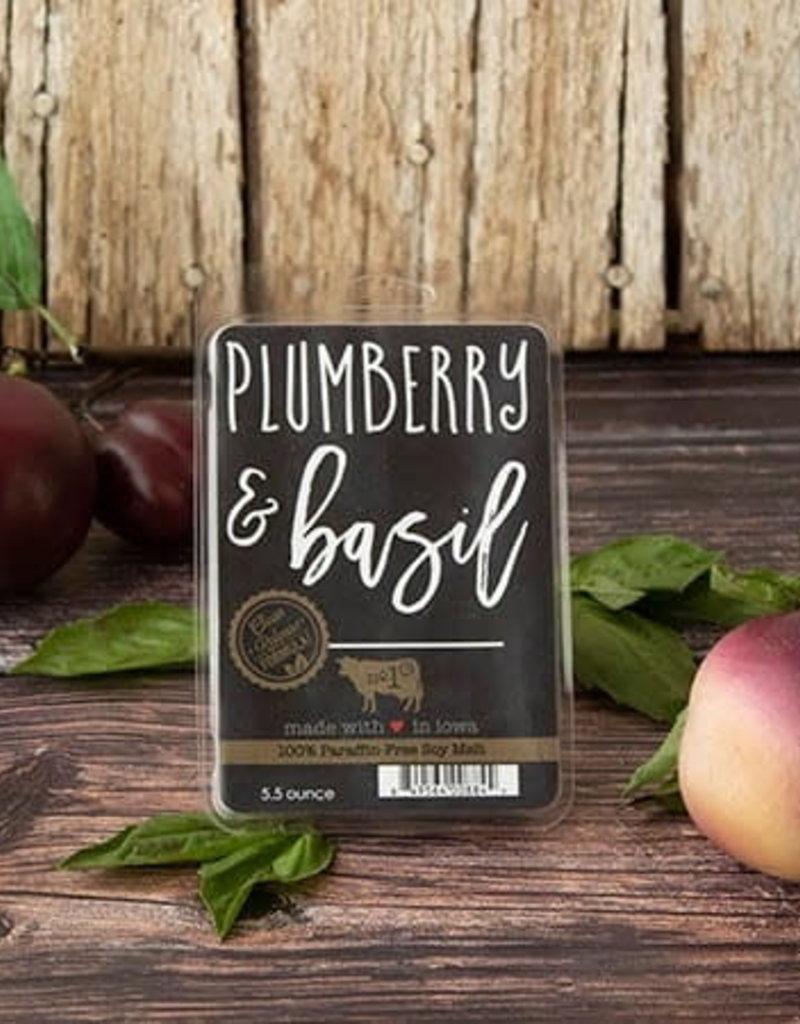 Large Fragrance Melts Plumberry & Basil