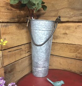 """14"""" Tall Metal Display Bucket w/Handle"""