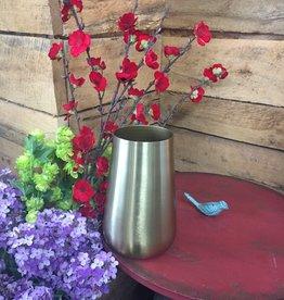"""8"""" Brushed Gold Vase"""