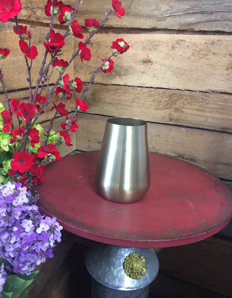"""6"""" Brushed Gold Vase"""