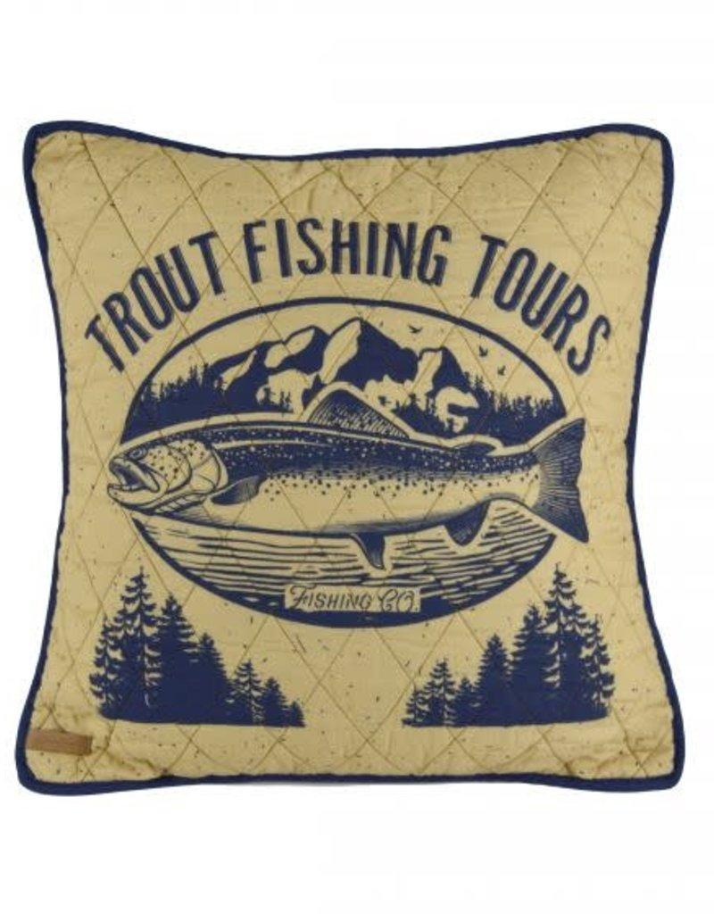 Lakehouse Dec Pillow Trout