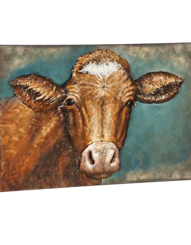 Handcrafted Cow 3D Metal Wall décor