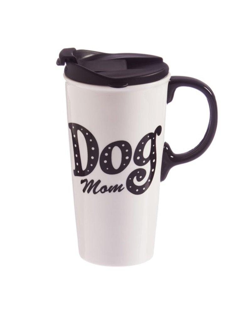 Ceramic Travel Cup w/Box, 17 oz., Dog Mom