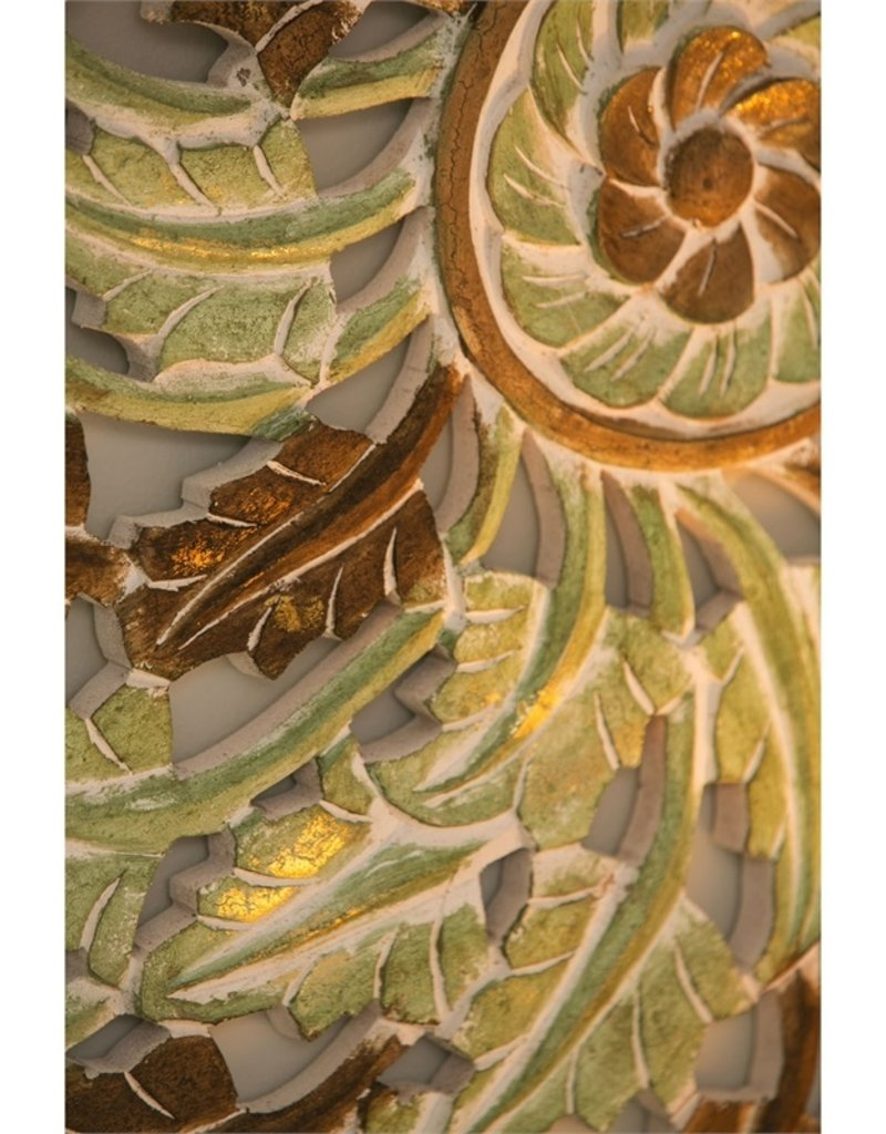 Hanalei Patina Carved Wood Wall Art