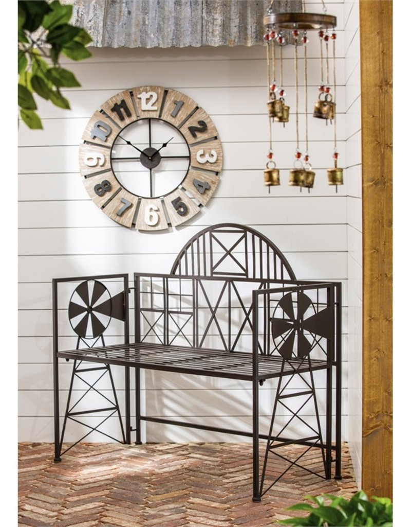 Wood and Metal Wall Clock