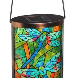 Solar Lantern, Tiffany Inspired Dragonfly