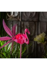 """36""""H Solar Flamingo Staked Wind Spinner"""