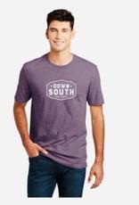 Distressed Logo Shirt - Heather Maroon (L)