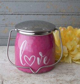 Sentiments Wrapped Butter Jar 16 oz Love